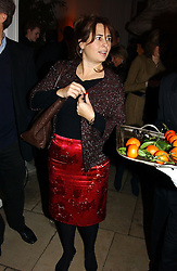 A party hosted by Mario Testino, Bianca Jagger and Kenneth Cole in collaboration with UNFPA and Marie Stopes International to celebrate the publication of Women to Woman: Positively Speaking - a book to raise awareness of women living with HIV/Aids, held at The Orangery, Kensington Palace, London on 2nd December 2004.<br />Picture shows:-ALEXANDRA SHULMAN.<br /><br />NON EXCLUSIVE - WORLD RIGHTS
