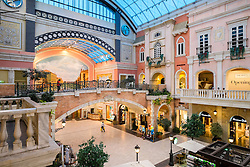 Italian Venetian themed Mercato shopping mall in Dubai United Arab Emirates