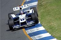 Formel 1, AUTO - F1 2004 - AUSTRALIA GP - MELBOURNE 20040307 - PHOTO : ERIC VARGIOLU / Digitalsport<br /> N¡ 3 - JUAN PABLO MONTOYA (COL) / WILLIAMS BMW - ACTION