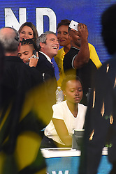 "Celebrities at the ""Hand to hand"" telethon in Times square, New York City. 12 Sep 2017 Pictured: Andy Cohen, Lupita Nyong'o. Photo credit: MEGA TheMegaAgency.com +1 888 505 6342"