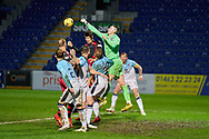 Ross County Goalkeeper Ross Laidlaw punches out a corner during the Scottish Premiership match between Ross County FC and St Mirren FC at the Global Energy Stadium, Dingwall, Scotland on 26 December 2020