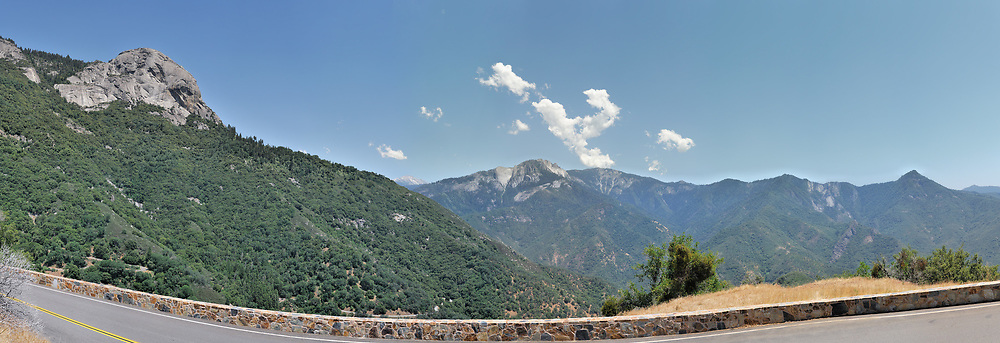 Moro Rock on the left. <br /> <br /> Panoramic available up to  21181x7258 pixels.