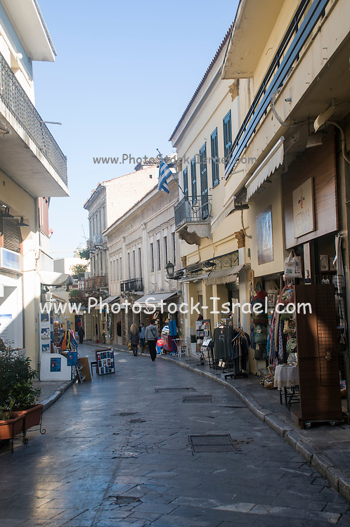 Shopping in the Narrow streets, Plaka, Athens, Greece