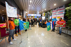 Fans during Arrival of Jakov Fak, Silver medalist at Olympic Games in Pyeongchang 2018, on February 25, 2018 in Aerodrom Ljubljana, Letalisce Jozeta Pucnika, Kranj, Slovenia. Photo by Ziga Zupan / Sportida