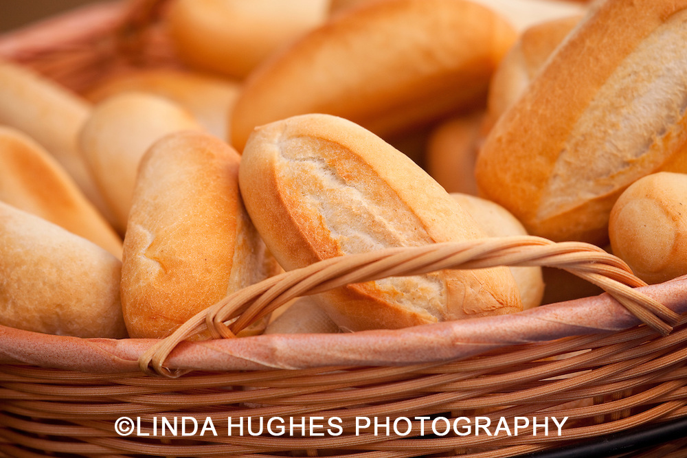 Basket of Bread at an Outdoor Event