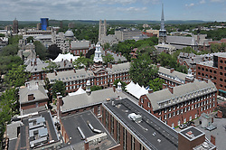 Timothy Dwight College and surrounding Architecture. From PWG to the left to Whitney Grove Center to the right. Yale University and New Haven CT. West Ridge in the Distance.<br />