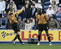 Fotball<br /> England 2004/2005<br /> Foto: SBI/Digitalsport<br /> NORWAY ONLY<br /> <br /> Seyi Olofinjana scores<br /> <br /> Millwall v Wolverhampton<br /> Coca Cola Championship. 22/01/05