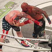 HOLLYWOOD, FL - JUNE 27: Joey Beltran holds down Sam Shewmaker during the Bare Knuckle Fighting Championships at the Seminole Hard Rock & Casino on June 27, 2021 in Hollywood, Florida. (Photo by Alex Menendez/Getty Images) *** Local Caption *** Joey Beltran; Sam Shewmaker