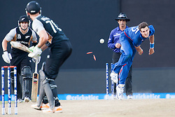 © Licensed to London News Pictures. 29/09/2012. English player Steve Finn bowling during the T20 Cricket World super 8's match between England Vs New Zealand at the Pallekele International Stadium Cricket Stadium, Pallekele. Photo credit : Asanka Brendon Ratnayake/LNP