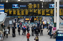 Interior view of Waverley Railway Station in Edinburgh, Scotland, United Kingdom