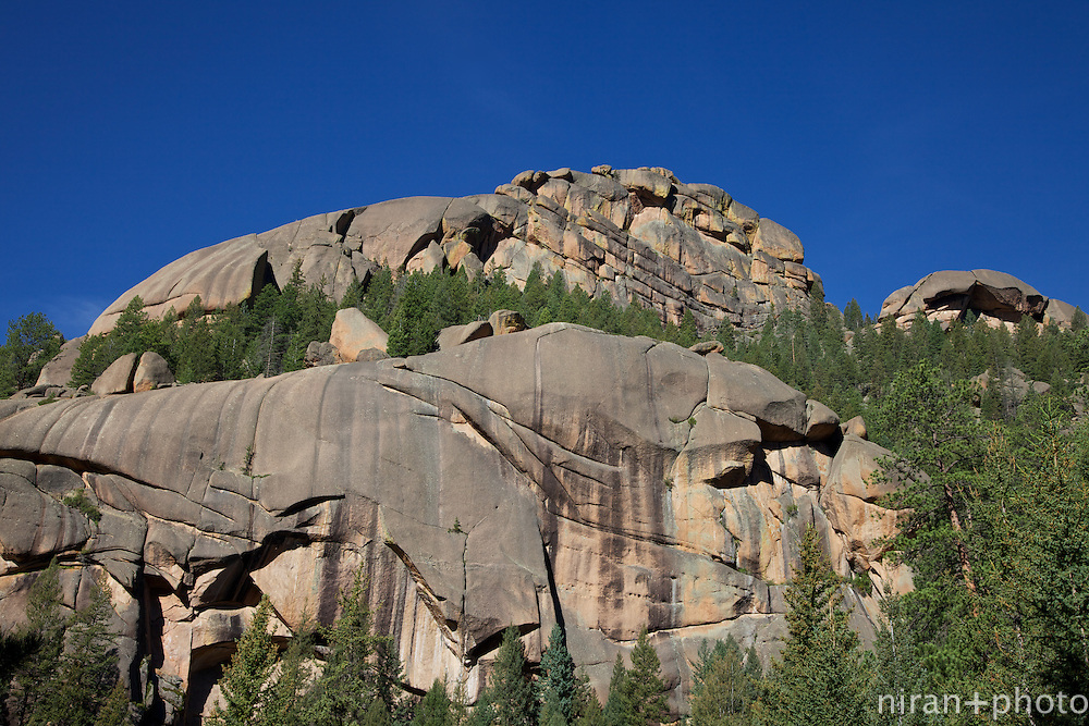 One of many smooth mammoth boulders that surround the Lost Creek Wilderness.