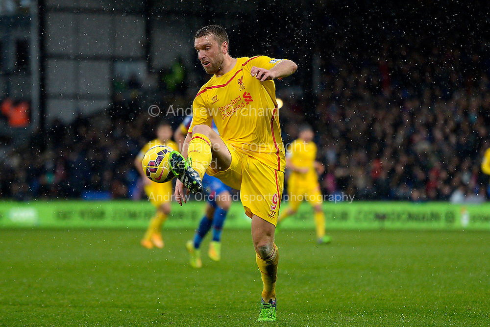 Rickie Lambert of Liverpool on the ball. Barclays Premier league match, Crystal Palace v Liverpool at Selhurst Park in London on Sunday 23rd November 2014.<br /> pic by John Patrick Fletcher, Andrew Orchard sports photography.