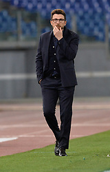 April 18, 2018 - Rome, Italy - Eusebio Di Francesco during the Italian Serie A football match between A.S. Roma and AC Genoa at the Olympic Stadium in Rome, on april 18, 2018. (Credit Image: © Silvia Lore/NurPhoto via ZUMA Press)