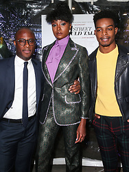 December 4, 2018 - Hollywood, California, United States - HOLLYWOOD, LOS ANGELES, CA, USA - DECEMBER 04: Director Barry Jenkins, actress KiKi Layne and actor Stephan James arrive at the Los Angeles Special Screening Of Annapurna Pictures' 'If Beale Street Could Talk' held at ArcLight Hollywood on December 4, 2018 in Hollywood, Los Angeles, California, United States. (Credit Image: © face to face via ZUMA Press)
