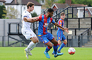 Luke Croll controlling the ball during the U21 Professional Development League match between U21 Crystal Palace and U21 Bolton Wanderers at Selhurst Park, London, England on 17 August 2015. Photo by Michael Hulf.