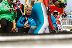 Peter Prevc of Slovenia during the Ski Flying Hill Men's Team Competition at Day 3 of FIS Ski Jumping World Cup Final 2017, on March 25, 2017 in Planica, Slovenia. Photo by Grega Valancic / Sportida
