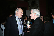 CLAUS VON BULOW AND HUGO VICKERS  The Literary Review Bad sex in Fiction Award 2007. The In and Out Naval and Military Club. St. James's Sq. London. 27 November 2007. -DO NOT ARCHIVE-© Copyright Photograph by Dafydd Jones. 248 Clapham Rd. London SW9 0PZ. Tel 0207 820 0771. www.dafjones.com.