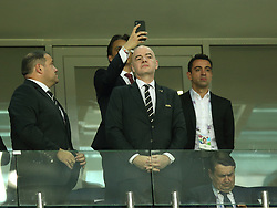 June 15, 2018 - Sochi, Russia - June 15, 2018, Russia, Sochi, FIFA World Cup, First round, Group B, First round, Portugal against Spain at Fisch Stadium. Gianni Infantino (Credit Image: © Russian Look via ZUMA Wire)