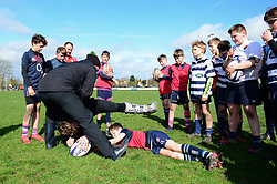 Jamie Shillcock, Cooper Vuna and community coaches deliver coaching sessions at Stourbridge RFC  - Mandatory by-line: Dougie Allward/JMP - 19/03/2017 - Rugby - Stourbridge RFC - Stourbridge, England - Worcester Warriors Community Rugby