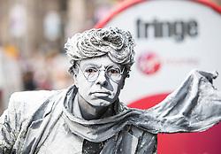 Street Performers on the High Street (Royal Mile) at the Edinburgh Fringe.