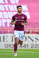 Shay Logan (#12) of Heart of Midlothian FC during the SPFL Championship match between Heart of Midlothian and Inverness CT at Tynecastle Park, Edinburgh Scotland on 24 April 2021.