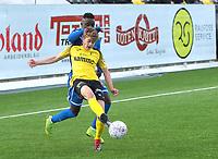 Fotball ,  OBOS-Ligaen<br /> 07.04.19<br /> Nammo Stadion<br /> Raufoss v Sandefjord  0-2<br /> Foto :  Dagfinn Limoseth , Digitalsport<br /> Oskar Johannes Løken , Raufoss
