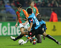 v.l. Johan Micoud Bremen, Giampiero Pinzi<br /> Champions League SV Werder Bremen - Udinese Calcio<br /> Norway only
