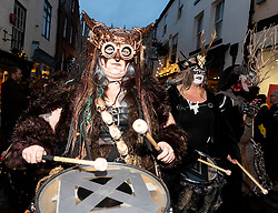 The Krampus Run, a costumed event with St. Nicholas' and his dark counterpart of Krampus takes place on the streets of Whitby.