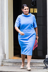 London, October 24 2017. International Development Secretary Priti Patel leaves the UK cabinet meeting at Downing Street. © Paul Davey