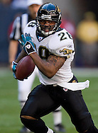 KEVIN BARTRAM/The Daily News.Jacksonville Jaguars running back Fred Taylor runs against the Houston Texans during the first half at Reliant Stadium in Houston on Saturday, Dec. 24, 2005. Jacksonville won the game 38-20.
