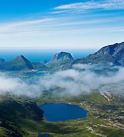 View from Justadtinden, Vestvagoy, Lofoten islands, Norway