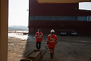 Arcelor Mittal. Omarska Mine near Prijedor.<br /> <br /> CEO Mladen Jelaca, l, and TK.<br /> <br /> Matt Lutton / Boreal Collective for the Financial Times.