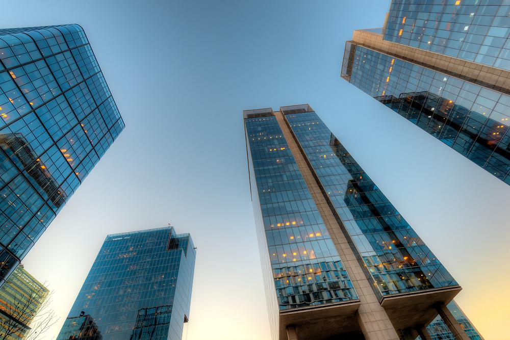 Office buildings at financial district known as Nueva Las Condes in Rosario Norte Street, Las Condes, Santiago de Chile