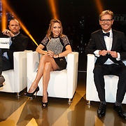 NLD/Hilversum/20141027 - Finale Holland Next Top Model 2014, jury Dirk Kisktra , Maybritt Mobach en Freek Koster