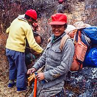 Rinzing Sherpa in the Khumbu region of Nepal. 1980.