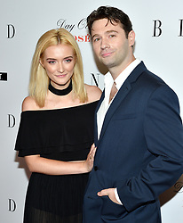 L-R: Claudia Peters and actor/writer John Buffalo Mailer  attend the NY premiere of Blind at the Landmark Sunshine Cinemas in New York, NY on June 26, 2017.  (Photo by Stephen Smith) *** Please Use Credit from Credit Field ***