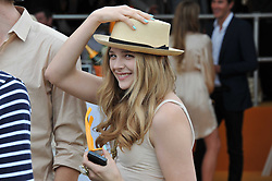 CHLOE MORETZ at the 2011 Veuve Clicquot Gold Cup Final at Cowdray Park, Midhurst, West Sussex on 17th July 2011.