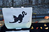 Japon, île de Honshu, région de Kansaï, Kyoto, vieux quartier de Sannenzaka, boutique des souvenirs dédiés aux chats // Japan, Honshu island, Kansai region, Kyoto, old street of Sannenzaka, cat souvenir shop