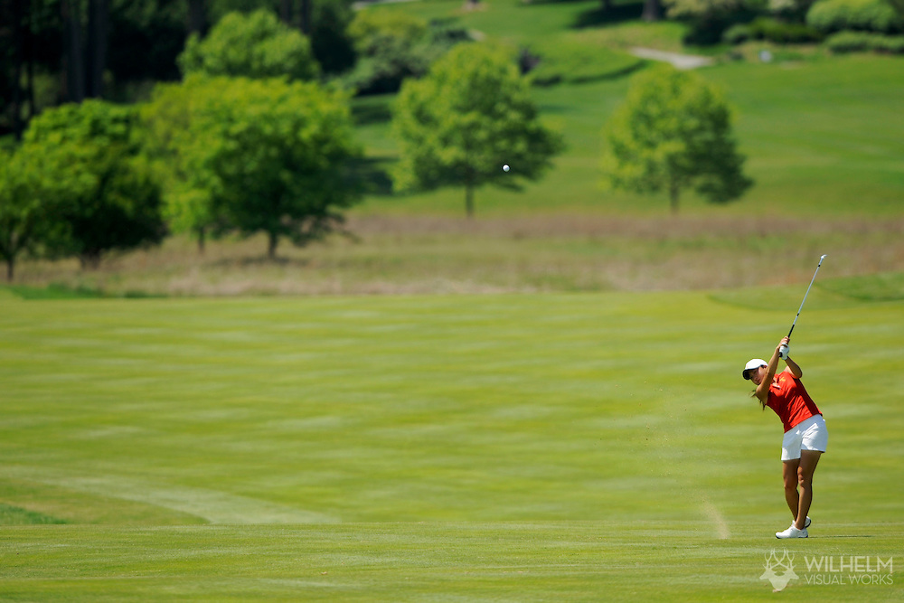 22 MAY 2009: Jennifer Song of the University of Southern California hits and approach shot during the 2009 NCAA Women's Division I Golf Championship held at Caves Valley Golf Club hosted by Georgetown University in Owings Mills, MD. © Brett Wilhelm