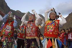 Pentecostes Festival held annually in May, Ollantaytambo, Peru, South America