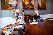 """Den Haag, 12-11-2020, Paleis Huis ten Bosh<br /> <br /> Koningin Maxima houdt in haar VN hoedanigheid online de openingstoespraak bij de ASEAN Women Leaders' Summit met als thema 'Women's Role in Building a Cohesive, Dynamic, Sustainable, and Inclusive ASEAN Community in a Post COVID-19 World'. De virtuele besloten bijeenkomst vindt plaats op de eerste dag van de 37e ASEAN Summit die dit jaar door Vietnam wordt georganiseerd.<br /> <br /> In her UN capacity, Queen Maxima will deliver the opening speech online at the ASEAN Women Leaders' Summit on the theme """"Women's Role in Building a Cohesive, Dynamic, Sustainable, and Inclusive ASEAN Community in a Post COVID-19 World"""". The virtual private meeting will take place on the first day of the 37th ASEAN Summit hosted by Vietnam this year."""