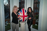 JOANNA LUMLEY; NANCY DELL D'OLIO, Party given by Basia Briggs and Richard Briggs at their home in Chelsea. London. 14 May 2012