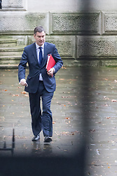 Downing Street, London, December 13th 2016. Chief Secretary to the Treasury David Gauke arrives at the weekly meeting of the cabinet at Downing Street, London.
