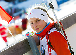Young fan during Men 15 km Mass Start at day 4 of IBU Biathlon World Cup 2014/2015 Pokljuka, on December 21, 2014 in Rudno polje, Pokljuka, Slovenia. Photo by Vid Ponikvar / Sportida