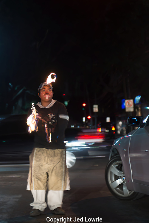 My favorite street performer in Mexico City.  Standing in front of traffic he juggles flaming balls.  Not only is it entertaining, but it makes a great image.