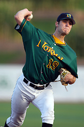 11 August 2012:  Pitcher Drew Provence during a Frontier League Baseball game between the River City Rascals and the Normal CornBelters at Corn Crib Stadium on the campus of Heartland Community College in Normal Illinois.  The CornBelters take this game in 9 innings 7 - 2 with a 5 run 2nd inning.