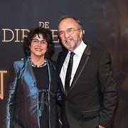 NLD/Amsterdam/20181023 -  Film premiere De Dirigent, Wim Schuurman en Sonja Bos