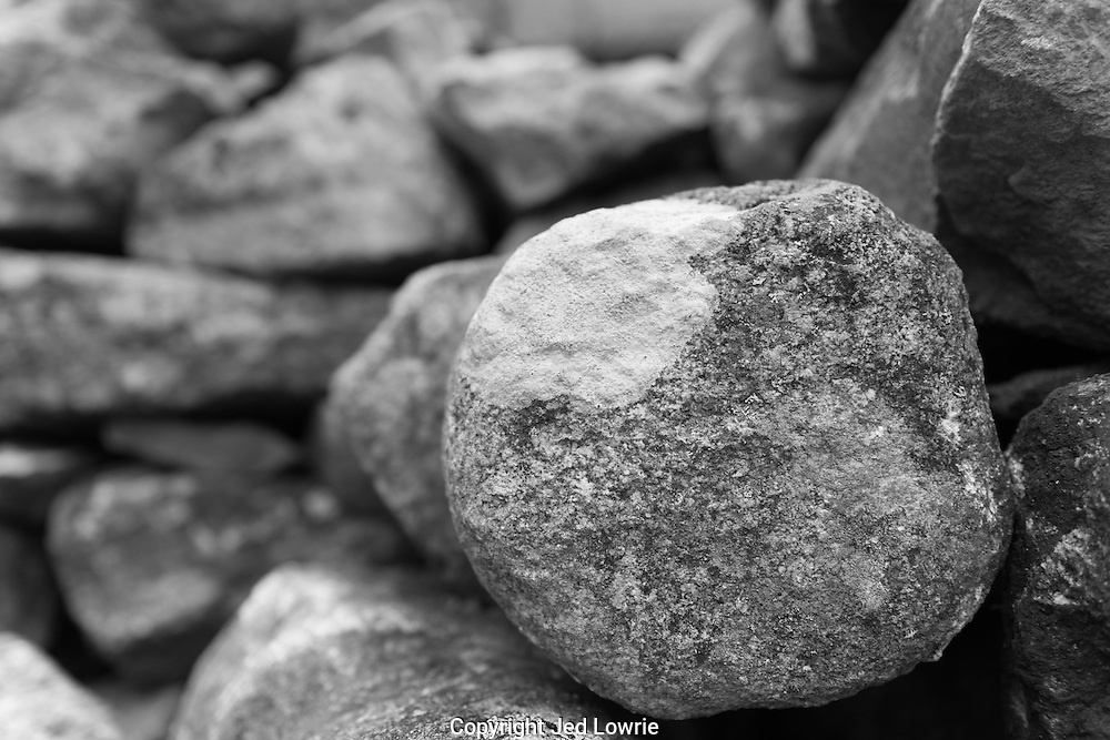 Granite stones like these were used to build Machu Picchu. Given the height at which Machu Picchu is built the Incas used much smaller stones than they did at other sites.