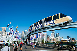 Monorail in Darling Bay Sydney Australia