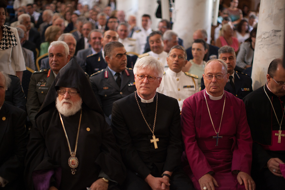 Observers from non-Orthodox Churches, as well as military and political figures attended the Divine Liturgy in the Holy Church of Saints Peter and Paul in Chania Crete officiated by the Patriarchs of the Orthodox Church at the close of the Holy and Great Council.